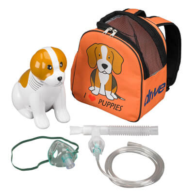 Drive Medical Pediatric Beagle Compressor Nebulizer with Carry Bag and Reusable Neb Kit 18091-be