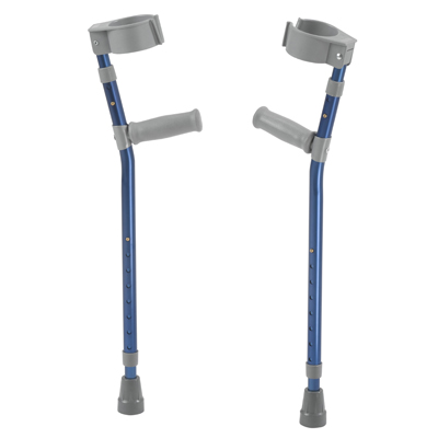 Pediatric Forearm Crutches Large Knight Blue Pair - Drive Medical - FC300-2GB