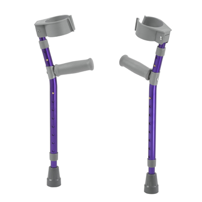 Pediatric Forearm Crutches Large Wizard Purple Pair - Drive Medical - FC300-2GP