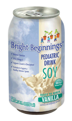 Bright Beginnings Pediatric Oral Supplement Soy Vanilla 8 oz. Can Ready to Use - Case of 24