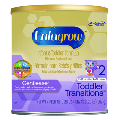 Pediatric Oral Supplement EnfagrowToddler Transitions Gentlease Unflavored 20 oz. Can Powder