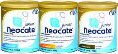Pediatric Oral Supplement Neocate Junior Tropical Fruit 400 Gram Can Powder