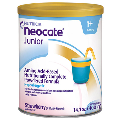 Pediatric Oral Supplement Neocate Junior with Prebiotics Strawberry 14.1 oz. Can Powder