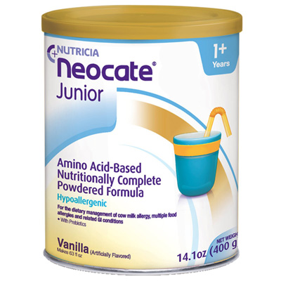 Pediatric Oral Supplement Neocate Junior with Prebiotics Vanilla 14 oz. Can Powder