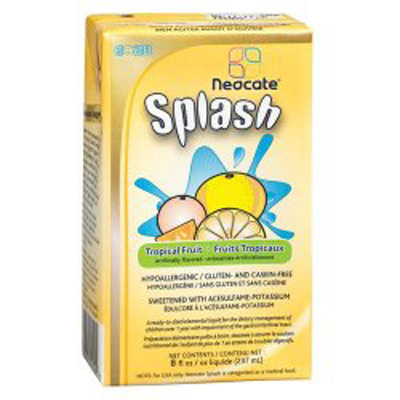 Pediatric Oral Supplement Neocate Splash Tropical Fruit 237 mL Carton Ready to Use