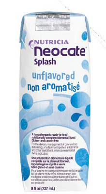 Pediatric Oral Supplement Neocate Splash Unflavored 8 oz. Box Ready to Use
