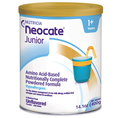 Pediatric Oral Supplement Neocate Unflavored 400 Gram Can Powder