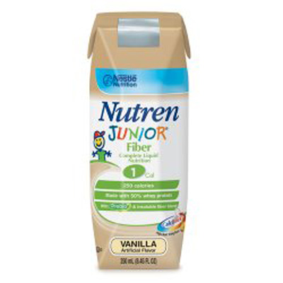 Pediatric Oral Supplement / Tube Feeding Formula Nutren Junior Vanilla 250 mL Tetra Prisma Ready to Use
