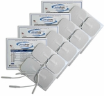 Pepin AdvanTrode Electrode, White Foam, 2 x 2 in Square - 16 Pads