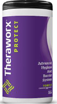 Personal Wipe TheraworxProtect Canister Lavender Scent 50 Count