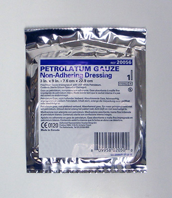 Petrolatum Impregnated Dressing McKesson 1 X 8 Inch Pleated Gauze USP White Petrolatum Sterile