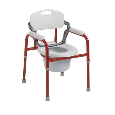 Drive Medical Drive Medical Pinniped Pediatric Commode, Red