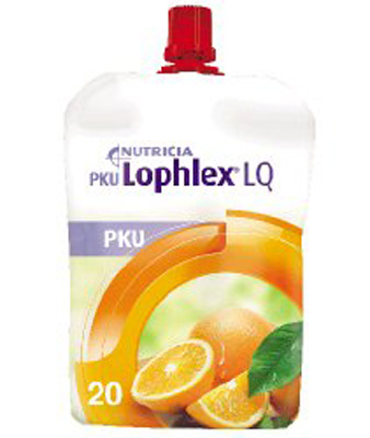 PKU Oral Supplement Lophlex LQ Juicy Orange Flavor 4.2 oz. Pouch Ready to Use