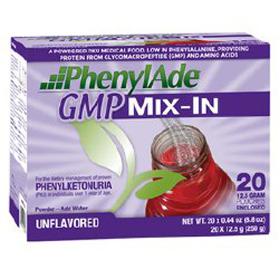 PKU Oral Supplement PhenylAde GMP Mix-In Unflavored 12.5 Gram Individual Packet Powder