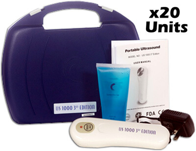 Roscoe Medical US1000 Portable Ultrasound Unit 3rd Case of 20