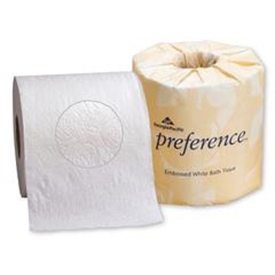 preference Toilet Tissue White 2-Ply Standard Size Cored Roll 550 Sheets 4 X 4.05 Inch