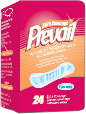 Prevail Bladder Control Pads, Very Light, Long 8.5 - 288 cs (12x24ea)