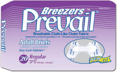 Prevail Breezers w/ Easy-Lock, Regular 40 - 49 in - 80 cs (4x20ea)