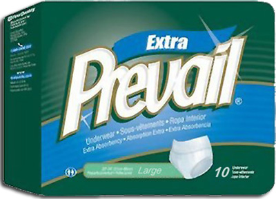 Prevail� Protective Underwear, Extra Absorbency, Large 44-58 in - 60 cs (6x10ea)