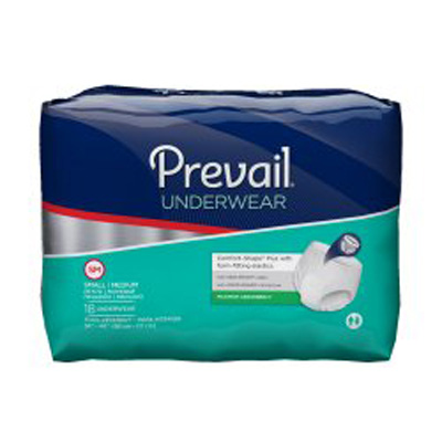Prevail® Super Absorbent, Pull Up, Protective Underwear, Small/ Medium 34-46 in - 72 cs (4x18ea)