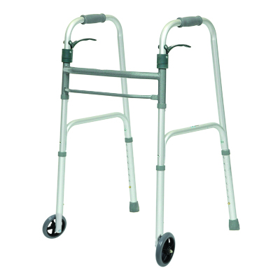 ProBasics Aluminum Adult Walker Trigger w/ wheels 350 lb Weight Capacity WKAAWSL
