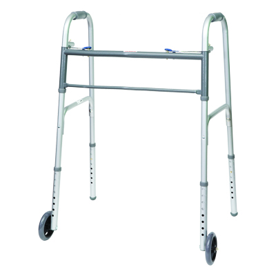 ProBasics Aluminum Bariatric Walker 2 Button w/ wheels 500 lb Weight Capacity WKABW2B