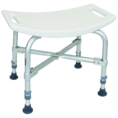 ProBasics Bariatric Shower Chair without Back, 550lb Weight Capacity BSBC
