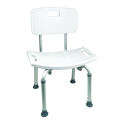 ProBasics Shower Chair with Back, 250lb Weight Capacity BSCWB