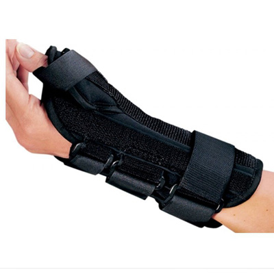 PROCARE ComfortFORM Wrist Splint With Abducted Thumb Fabric / Lycra Liner Right Hand Black Small