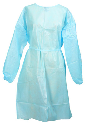 Protective Procedure Gown McKesson One Size Fits Most Unisex NonSterile Blue - 44601100