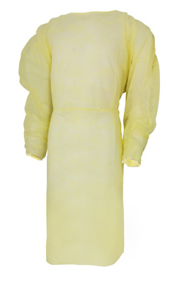 Protective Procedure Gown McKesson One Size Fits Most Unisex NonSterile Yellow