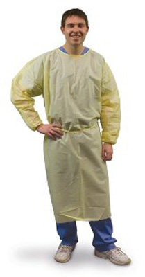 Protective Procedure Gown P2 Safetyplus 2X-Large Unisex Yellow