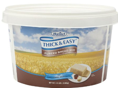Puree Thick & Easy 4.5 lbs. Tub Bread Mix Ready to Mix Puree