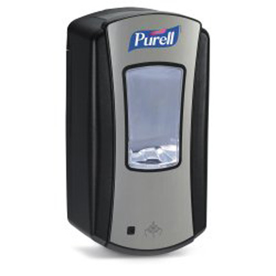 Purell LTX-12 Hand Hygiene Dispenser Brushed Chrome / Black Plastic Motion Activated 1200 mL Wall Mount