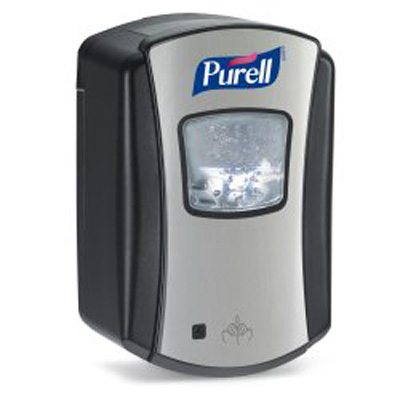 Purell LTX-7 Hand Hygiene Dispenser Brushed Chrome / Black Plastic Motion Activated 700 mL Wall Mount
