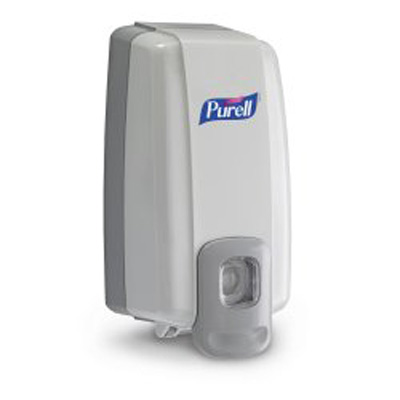 Purell NXT Space Saver Hand Hygiene Dispenser Dove Gray Plastic Push Bar 1000 mL Wall Mount
