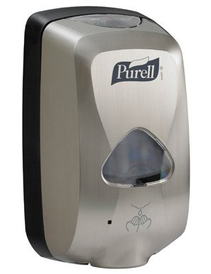 Purell TFX Hand Hygiene Dispenser Brushed Metallic Plastic Motion Activated 1200 mL Wall Mount