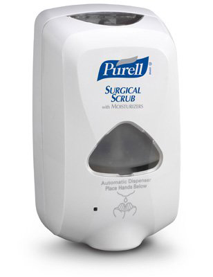 Purell TFX Hand Hygiene Dispenser Dove Gray Plastic Motion Activated 1200 mL Wall Mount