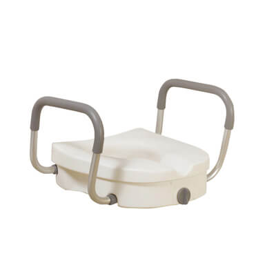 Super Drive Medical Raised Toilet Seat With Removable Padded Arms Model 12008Kdr Uwap Interior Chair Design Uwaporg