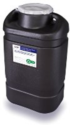 RCRA Waste Container 1-Piece 7.5H X 10.5W X 18L Inch 5 Gallon Black Base / White Lid Hinged Lid