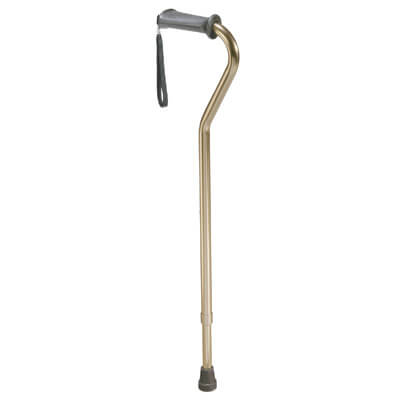 Drive Medical Rehab Ortho K Grip Offset Handle Cane with Wrist Strap 10350-1