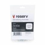 Reserv OTC TENS Unit Electrode Pads, White Cloth Backed, 2 x 2 Square - 40 Pads