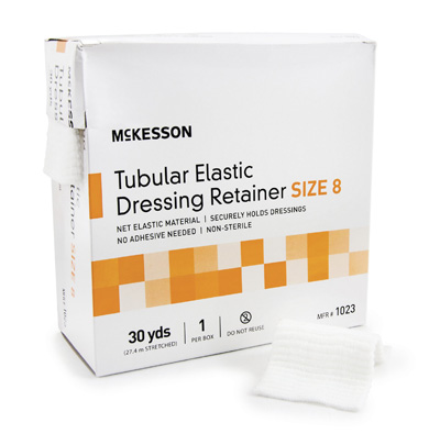 Retainer Dressing McKesson Tubular Elastic Dressing Elastic Net 30 Yards Size 8