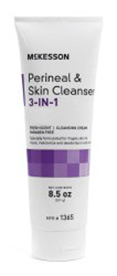 Rinse-Free Perineal Cleanser McKesson Cream 8.5 oz. Tube Scented