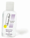 Dawn Mist 2 oz. Rinse-Free Shampoo and Body Wash Squeeze Bottle Scented - Case of 144