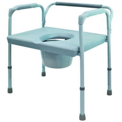 Roscoe Medical 24-inch Extra Wide Commode Color: Gray