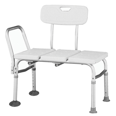 Roscoe Medical Adjustable Transfer Bench Color: White