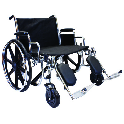 Roscoe Medical Extra Wide Bariatric Wheelchair Color: Chrome finish w7hd28e