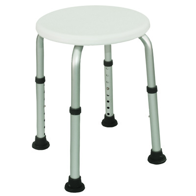 Roscoe Medical Height Adjustable Bath Stool Color: White 30002
