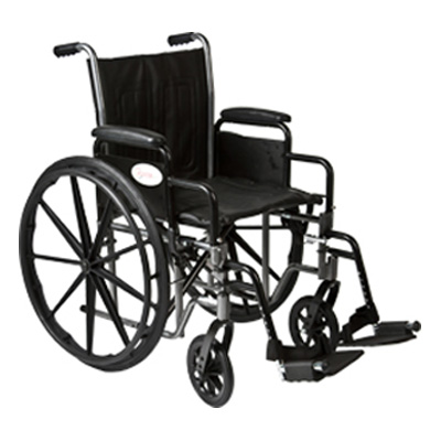 Roscoe Medical K2-Lite Wheelchair Color: Powder-coated silver vein k2st2016dhrsa